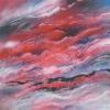 Roter Morgen 100 x 100